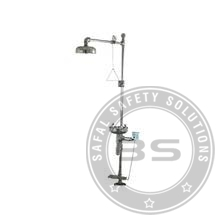Hand Operated and Pedal operated Shower Cum Eye Washer SS