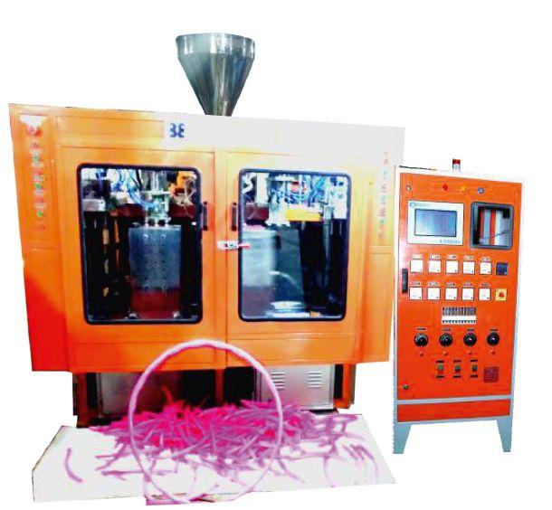 3 Cavity Double Station Auto Deflashing Blow Molding Machine