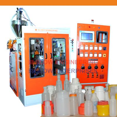 4 Cavity Auto Deflashing Blow Molding Machine
