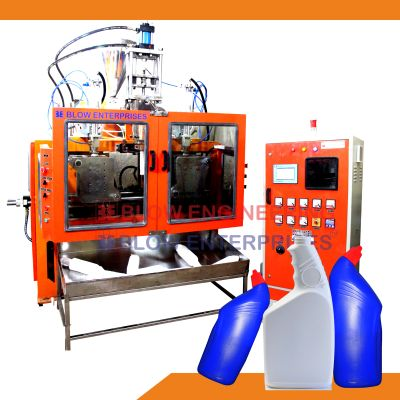 Double Station Angular Blow Molding Machine 01
