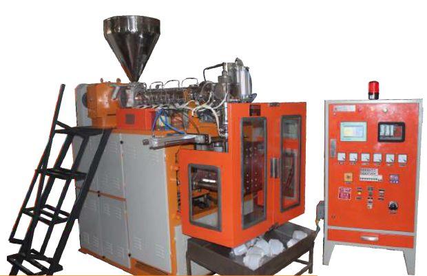 Single Station Angular Blow Molding Machine