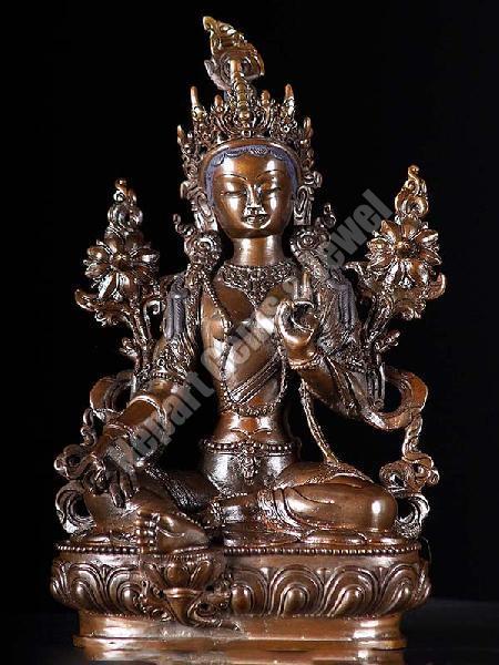 Copper Green Tara Statues
