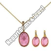 Gemstone Pendant Set