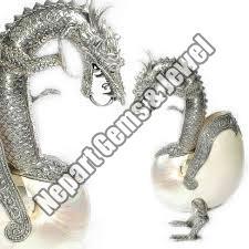 Silver Dragon Statue