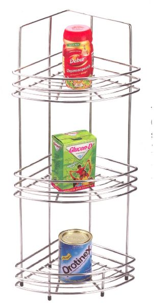 Stainless Steel Triple Corner Rack 02