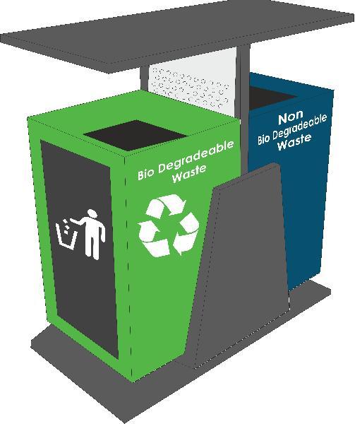 Outdoor Waste Bin 80L Dual