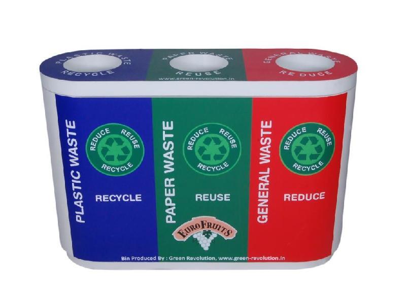 Waste Segregation Bin 60L Trio Fiberplast
