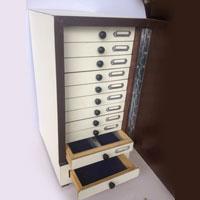 Wooden Slide Storage Cabinet