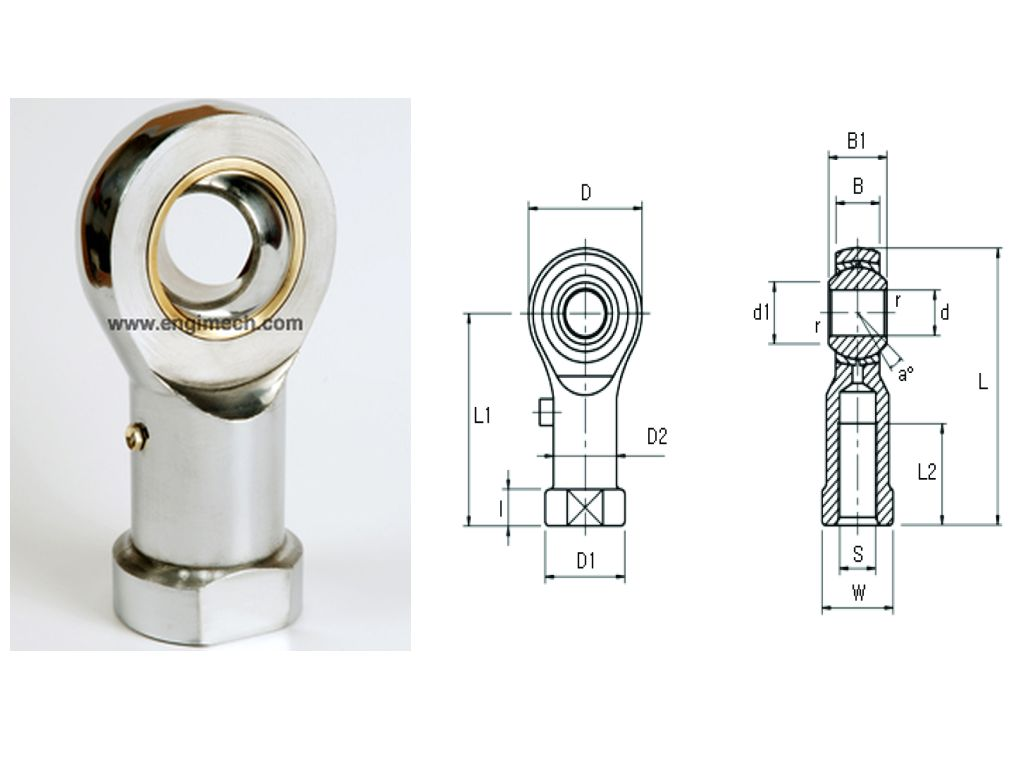 Figure Of Rod End Ball Female Joints