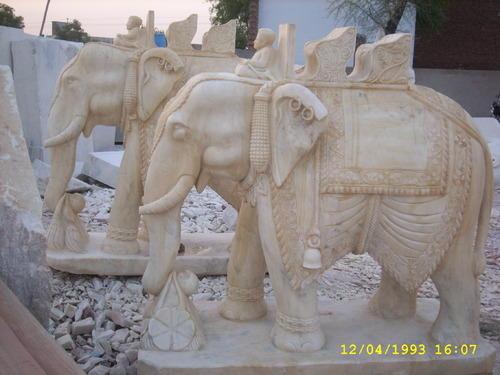 Marble Elephant Statue 12