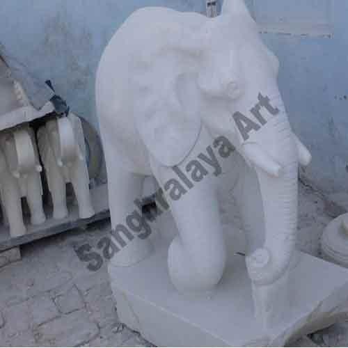 Marble Elephant Statue 05