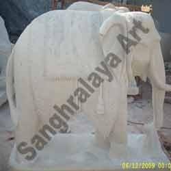 Marble Elephant Statue 01