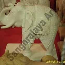 Marble Elephant Statue 10