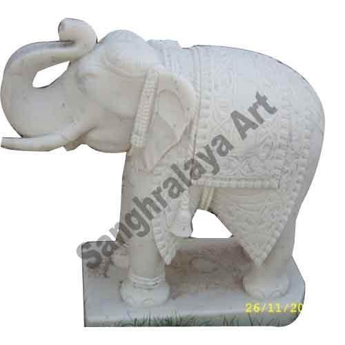 Marble Elephant Statue 06