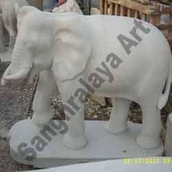 Marble Elephant Statue 07