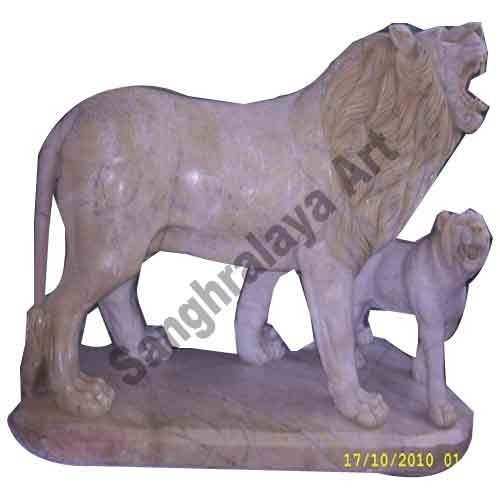 Marble Lion Statues