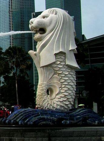 Marble Merlion Statue