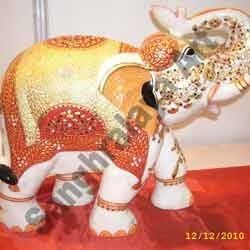 Marble Elephant Statue 15