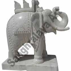 Marble Elephant Statue 04