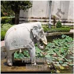 Sand Stone Elephant Statue 02