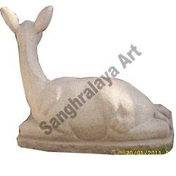 Sitting Deer Statues