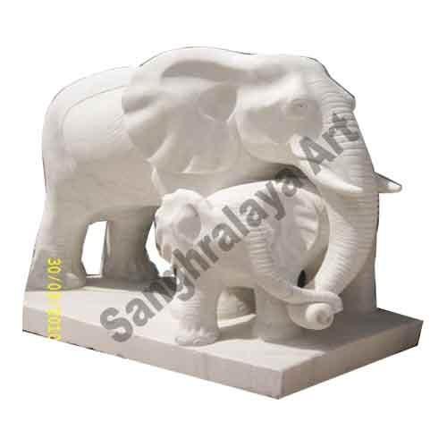 Marble Elephant Statue 02
