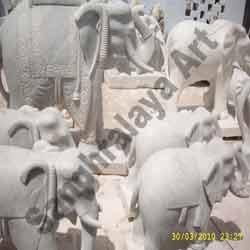 Marble Elephant Statue 03