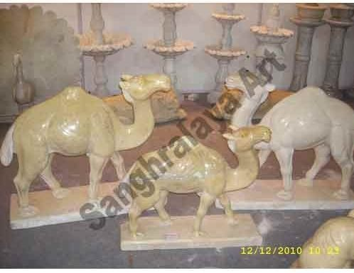 Marble Camel Statue 02