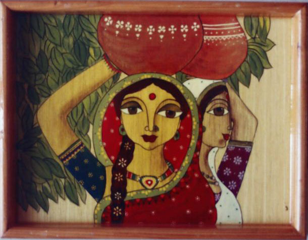 Hand Painted Wooden Tray 07