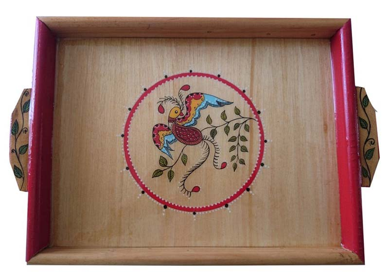 Hand Painted Wooden Trays 19