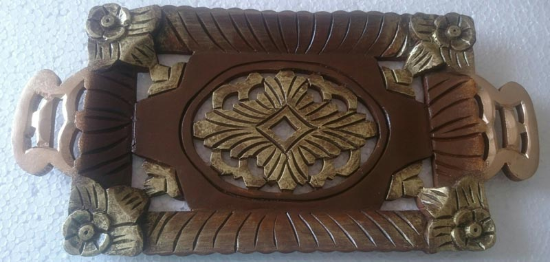 Hand Painted Wooden Trays 21