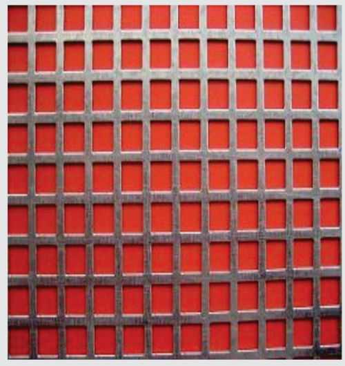 Square Hole Mild Steel Perforated Sheets