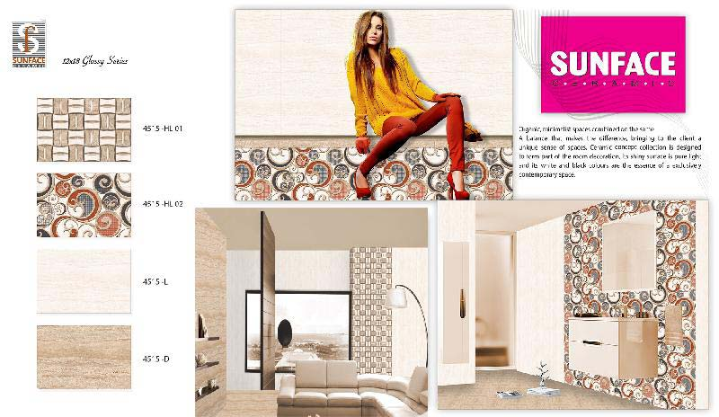 300 X 450 Glossy Concept Series Tiles