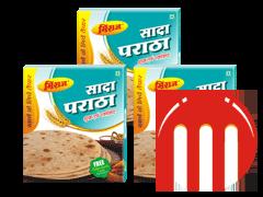 3 Combo Pack Plain Paratha