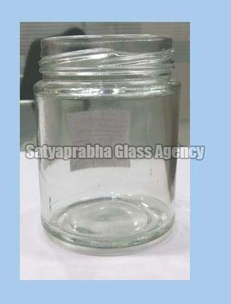 63 mm Glass Round Lug Jars