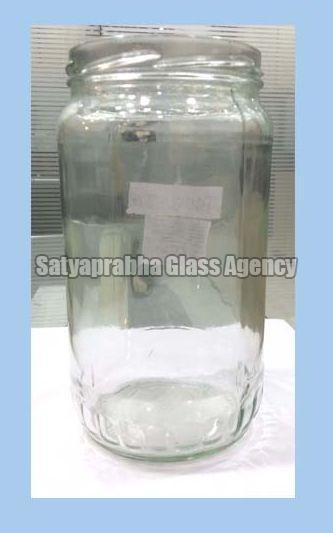 800 gm Glass Round Lug Jars