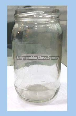 Glass Round Label Jars
