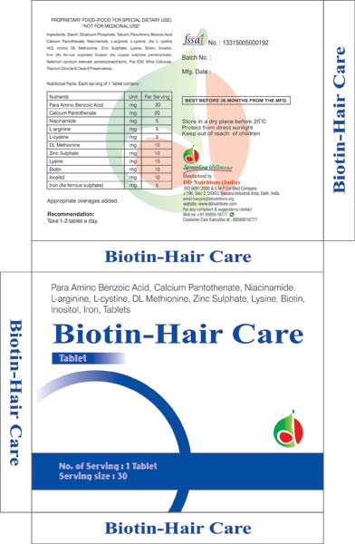 Biotin Hair Care Tablets