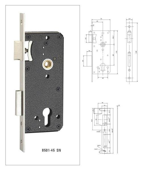 Mortise Door Lock (8501-45 SN)
