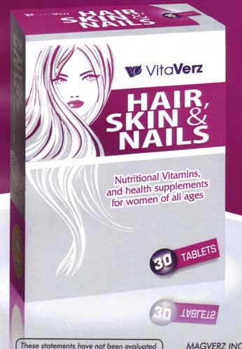 Vitaverz Hair, Skin & Nail Tablets