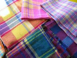 Madras Check Fabric 002