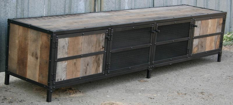 Industrial Side Tables and Entertainment Centers