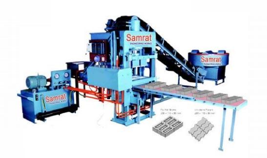 Semi Automatic Fly Ash Bricks Making Machine