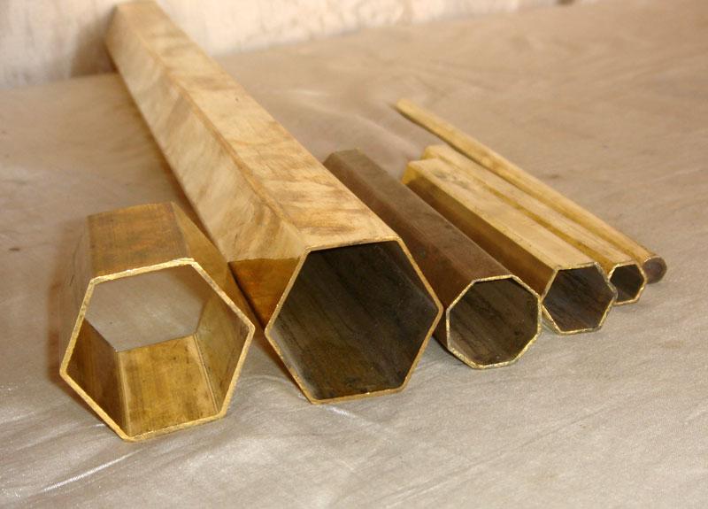Hexagonal Brass Tubes