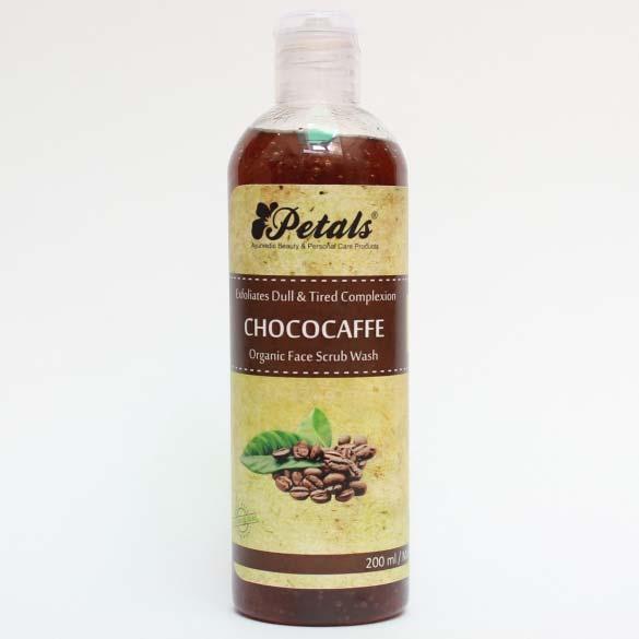 Petals Choco Caffe Organic Face Wash Scrub