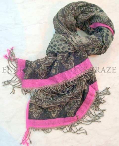 Jacquard Wool Scarves (EC-4991)