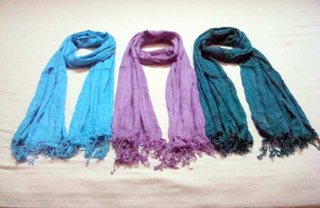 Ombre Dyed Scarves