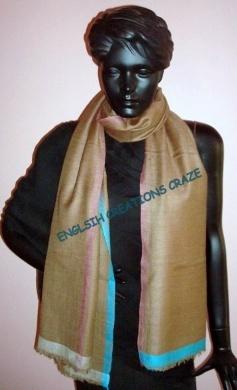 Silk Cashmere jacquard scarves EC-2333 DM