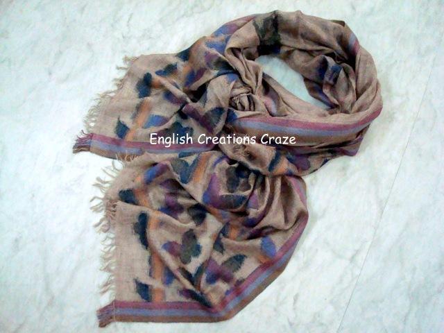 Silk cashmere woven scarves EC-6105-A