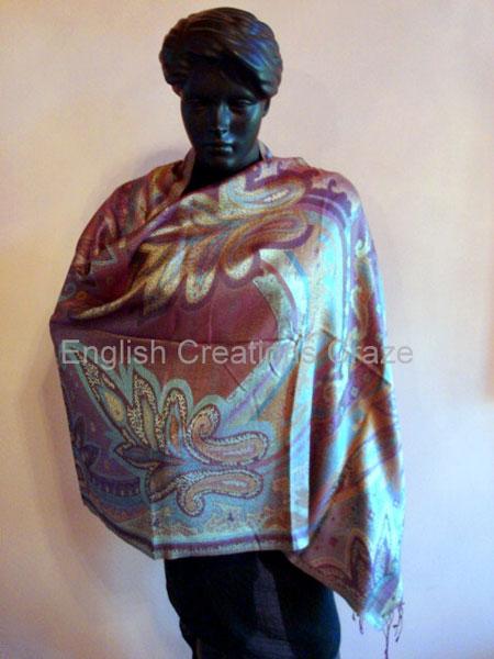 Silk Jacquard Shawls